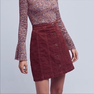 Pilcro & the Letterpress | Burgundy Gallery Skirt